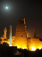 Luxor Temple at Night